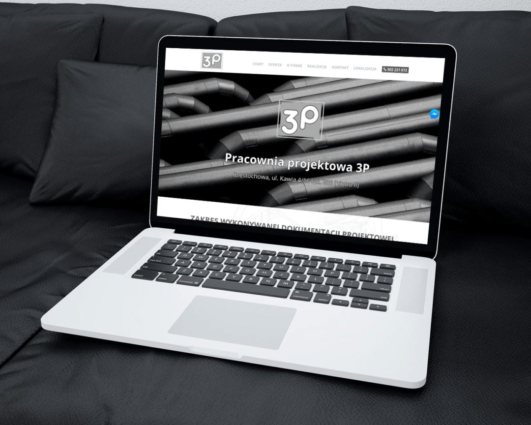 Strona internetowa dla firmy projektowej